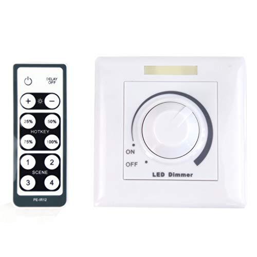 HOMEDEMO Dimmer für LED Deckenleuchte mit Fernbedienung 0-10V DC
