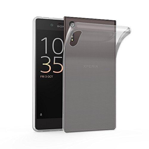 Cadorabo Funda para Sony Xperia XZ/XZs en Transparente - Cubierta Proteccíon de Silicona TPU Delgada e Flexible con Antichoque - Gel Case Cover Carcasa Ligera