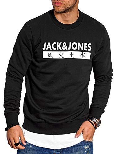 JACK & JONES Herren Sweatshirt Pullover Print Rundhals Streetwear 4 Elements (Medium, Tap Shoe)