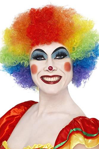 SMIFFYS Smiffy's Parrucca da Clown Pazzo, Color Arcobaleno, 120g per Adulti, Taglia unica, 42088