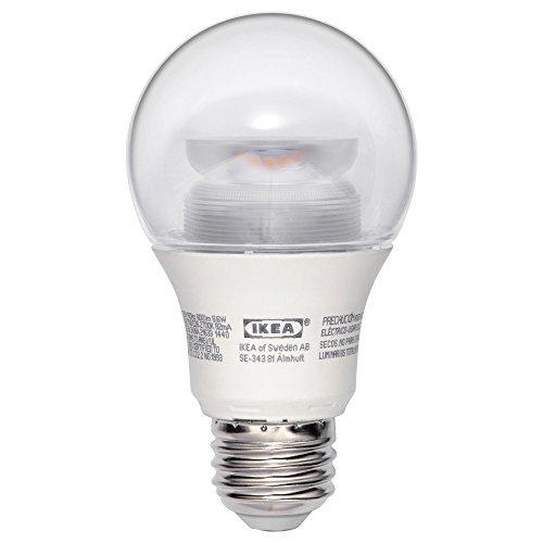 Ledare E26 600 Lumen, 8.6 Watts, 2700k LED Dimmable Globe Clear Light Bulb