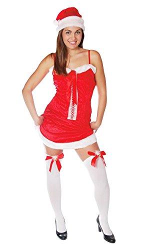 Guirma Costume Mamma Natale, Sexy Santa Claus Donna, Colore Rosso, Taglia Unica 42702