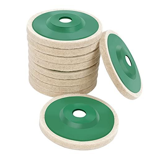 Wool Polishing Wheel, Wool Polishing Buffing Wheel Pad 10Pcs Wear-Resistant...