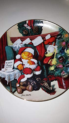 Not a Fat Cat Was Stirring Garfield Christmas Decorative Collectors Plate -  The Danbury Mint, Plate no. M980