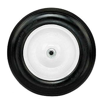 WUIIEN 14.2  Flat Free Wheel Barrow Wheelbarrow Tire Solid Foam 5/8 Axle Cart Wagon New