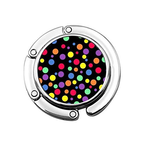 Coloured Dot Folding Damen Handtasche Tisch Kleiderbügel Geldbörse Hakenhalter