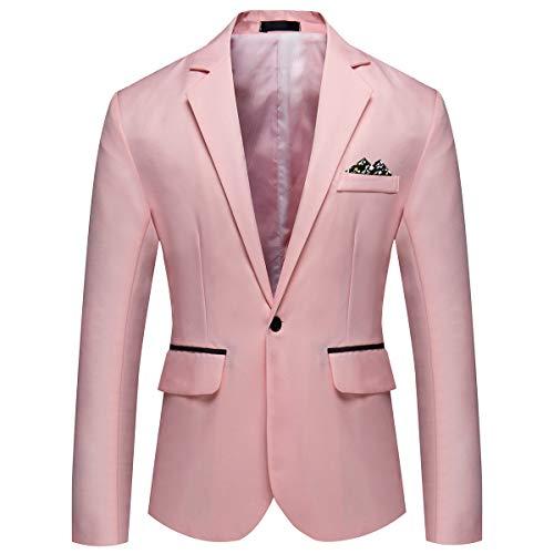 YOUTHUP Herren Sakko Slim Fit Formal Business Anzugjacke Leichte Casual Jacken