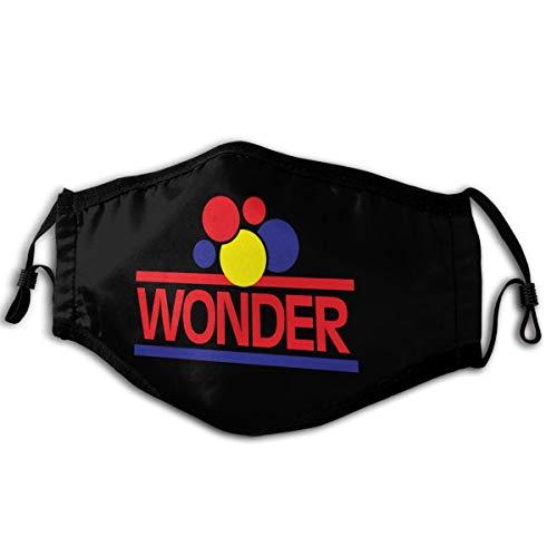 Ashmak Wonder Bread Face Mask Unisex Seamless Rave Bandana Neck Gaiter Tube Headwear Balaclava Black