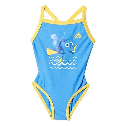 adidas Mädchen Badeanzug Disney Nemo, Shock Blue/Orange, 92, AJ7788