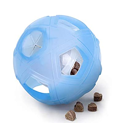 """LumoLeaf Dog Treat Ball, 7"""" Interactive IQ Treat Dispensing Ball Toy with Adjustable Difficulty Setting for Small to Medium Dogs and Cats."""