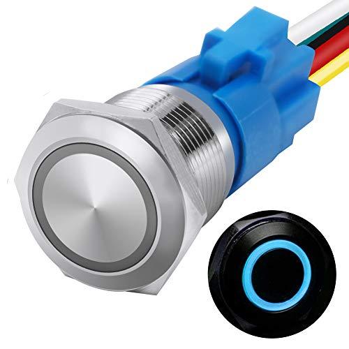 mxuteuk 16mm Momentary Push Button Switch 1 NO 1...