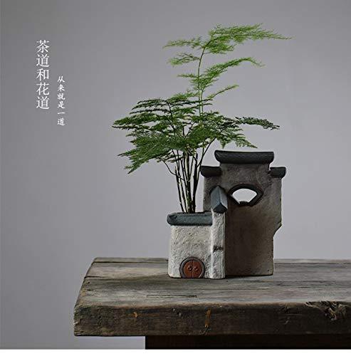 OYBB Ornament Vase Ice Crack Celadon Retro Einfarbig Blumeneinsatz Keramik Tee Zeremonie Dekoration Tee Kunst Schmuck New Trend