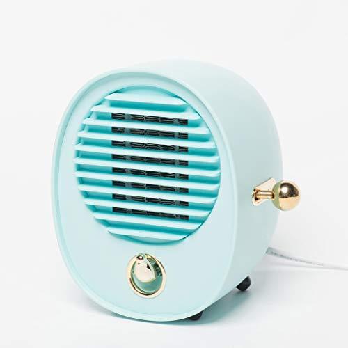 Mini Sun Heater Petit Power Heater Petit climatiseur Dortoir Économie d'énergie Étudiant Home Bureau Muet (Color : Blue)
