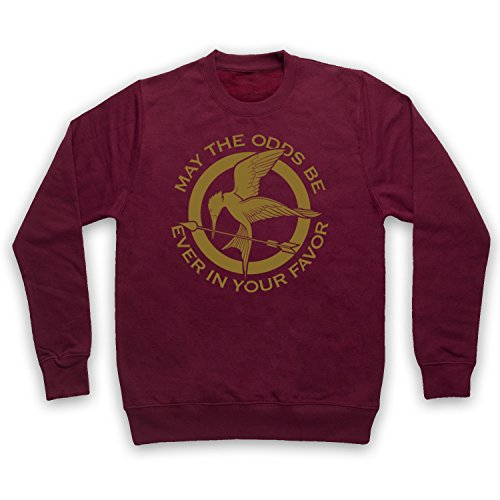 The Guns Of Brixton Hunger Games Odds Ever in Your Favor Sweat-Shirt des Adultes, Bourgogne, Small