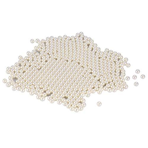 1300PCS perles pour remplissage de vase perles de perle ivoire sans trous perles de perles, perles pour remplissage de vase, dispersion de table, fête d'anniversaire, décoration de la maison(blanc)