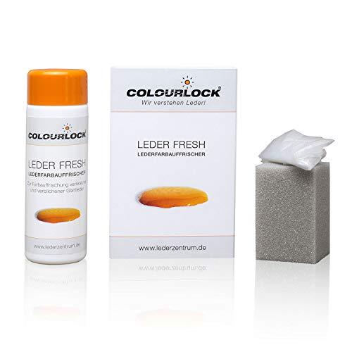 Colourlock® Leder Fresh Tönung (Lederfarbe, Farbauffrischung) 150 ml passend für BMW Leder schwarz (Standardfarbe F034), beseitigt Schrammen, Ausbleichungen und Abnutzung an Leder und Kunstleder