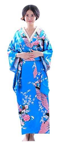 Botanmu Frauen Kimono Robe Japanische Kleid Fotografie Cosplay Kostüm 5 Farben (Himmelblau)