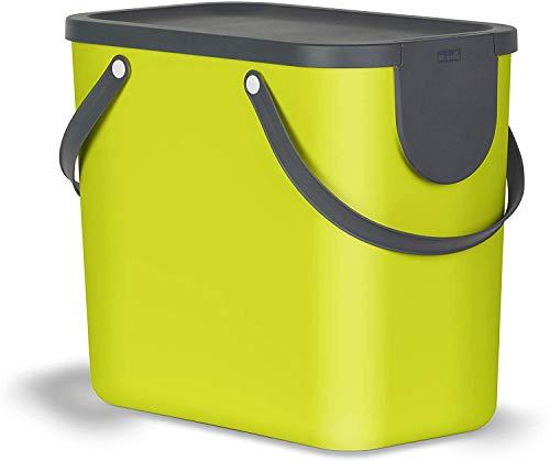 Rotho Albula-Cubo de Basura (25 L), Plástico (PP), Verde