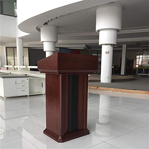 Canness Stand-Up Presentation Lectern Teacher Speaker Lecture Classroom Presentation Stand Laptop Computer Book Holder Portable Floor Lectern Podium Standing Speaking Training Podium