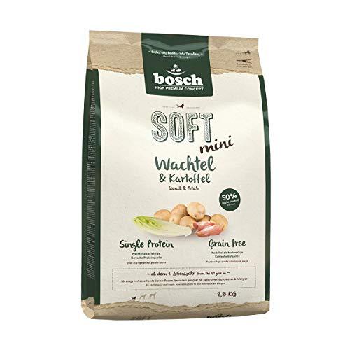 bosch HPC SOFT Mini Wachtel & Kartoffel | halbfeuchtes Hundefutter für ausgewachsene Hunde kleiner Rassen | Single Protein | Grain-Free | 1 x 2.5 kg