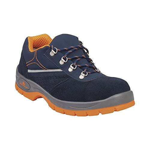 Delta Plus RIMI3SPBL44 - Zapatos de piel de ante con corte S1P SRC, color azul marino y naranja, talla 44