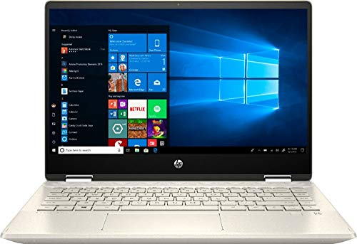 """2020 HP Pavilion x360 2-in-1 Laptop Computer/ 14"""" Full HD Touchscreen/ 10th Gen Intel Core i5-10210U Up to 4.1GHz/ 16GB DDR4 Memory/ 256GB PCIe SSD/ AC WiFi/ HDMI/ Gold/ Windows 10"""