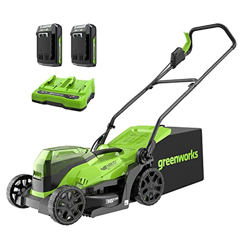 Greenworks Tools 2513407UC cortacésped, 48 V, verde, negro, gris