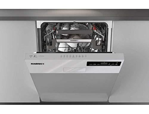 Lave vaisselle encastrable 60 cm Rosieres RDSN2D622PX-47 - Lave vaisselle integrable Inox - Classe énergétique A++ / Affichage temps restant - Départ différé