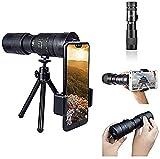 CNSSKJ Telescopio 4K 10 – 300 x 40 mm Super Telephoto Zoom Monocular Telescopio Impermeable Resistente a los golpes para observación de aves, caza, camping, senderismo viajes