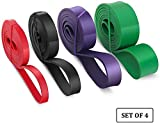 Resistance Bands Trident Fitness Bands, Pull up, Workout Bands Resistance, Assistance Bands, Cross fit Bands for Workout, Set of 4.