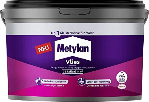Metylan Vlies Fertigkleister, feuchtigkeitsbeständiger Tapetenkleister für Vliestapeten, Kleister zum einfachen Tapezieren, 1x3kg