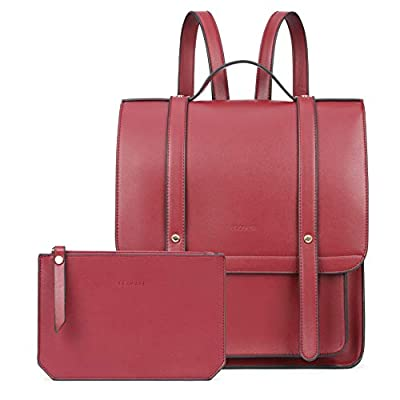 ECOSUSI Laptop Backpack Women Briefcase PU Leat...