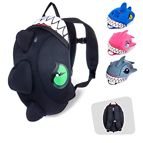 Dinosaur Backpack for Girls and Boys - The Crazy Safety Toddler Backpack is The Ideal Choice for Daycare, Preschool, Kindergarten & Travels - Fun Dinosaur & Shark Design Backpacks | 33 cm Long