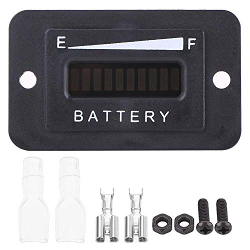 Best Deals! Led Digital Battery Indicator Meter Cart Digital Battery Gauge 36v 48v for Golf Carts(BI...