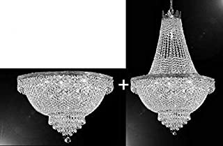 Set of 2 - French Empire Crystal Chandelier Chandeliers Lighting H30