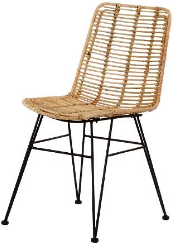 Animal-design Rattan Stuhl MAGY (60002) moderner Flechtstuhl Korb Stuhl Esszimmer Wohnzimmer