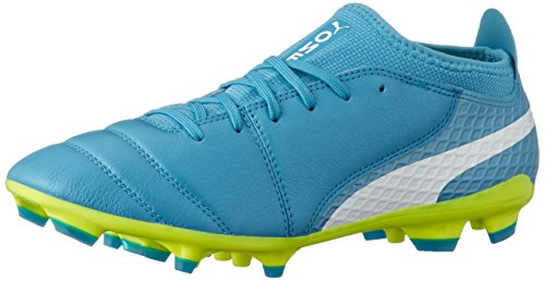 PUMA ONE 17.2 AG Men's Leather Soccer Cleats-Blue-10