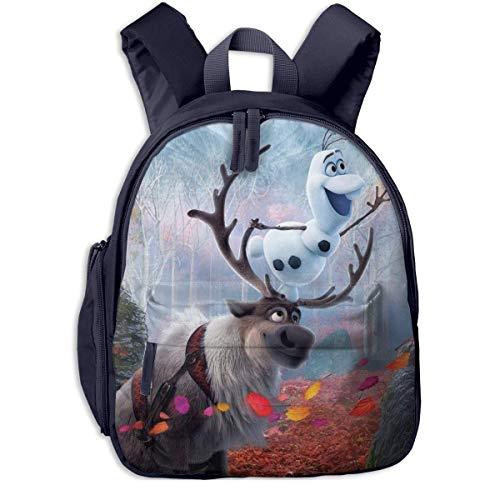 Hdadwy Fro-Zen Toddler Backpack Children Kindergarten School Pack for Outdoor School Travel Kindergarten (Navy)