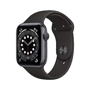 """最新 AppleWatch Series 6(GPSモデル)- 44mmスペースグレイアルミニウムケースとブラックスポーツバンド"""""""