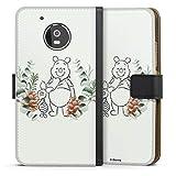 Étui Compatible avec Motorola Moto G5 Étui Folio Étui magnétique Disney Winnie l'ourson Porcinet...