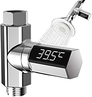 Faucet Thermometer Led Display Celsius Digital Water Temperature Meter Detectors, Plastic 360 Degrees Rotation Electricity...