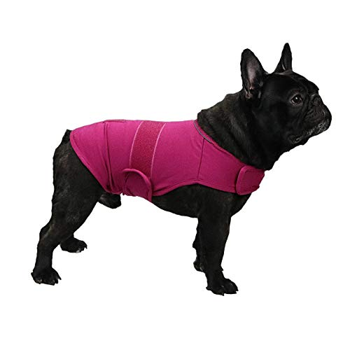 Comfort Dog Anxiety Relief Coat, Dog Thunder Vest Calming Anxiety Wrap, Reduce Stress Thunder Jacket Shirts for Dogs(Rose M)