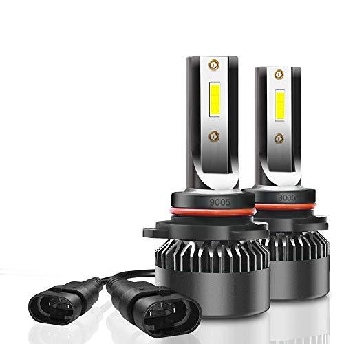 Faros de coche - G2 coche LED faros con bombillas de 60W 7000lm de faros antiniebla H1 H4 H7 H8 / H9 / H11 9005 9006 9012 9-32V 6000K blanca Ahorro de energía y larga vida útil. ( Color : 9005/HB3 )