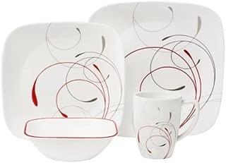 Corelle Square 16-Piece Dinnerware Set, Splendor, Set of 2