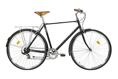 Fabric City Classic-Bicicleta de Paseo (L-58cm, Classic Matte Black Original)