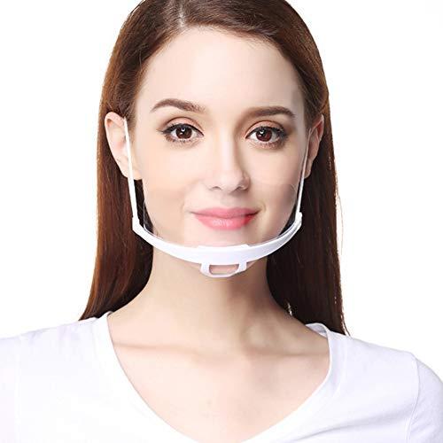 AIEOE 10 Piezas Visera Facial Transparente Visera Escudo Anti-Saliva Anti-Salpicaduras Pantalla Protectora Plástico para Restaurante Cocina Gastronomía Supermercado