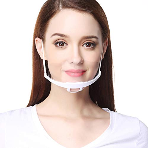 AIEOE Safety Gesichtsschutzschild Kunststoff Visier Gesichtsschutz Anti-Fog Anti-Öl Splash Transparent Schutzvisier - Essen Hygiene Spezielle Anti-Saliva Sesichtsschutzschirm