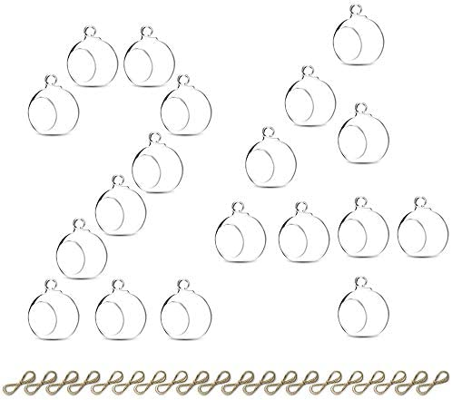Hanging Tealight Candle Hoder 24 Pcs Mini Glass LED Tealight Holder 2 36 Inches Diameter Glass product image