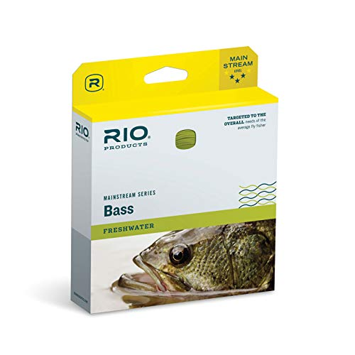 RIO Products Fly Line Mainstream Bass Pike Panfish Wf8F, Yellow
