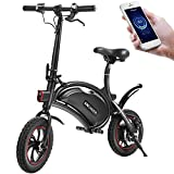 ANCHEER Folding Electric Bicycle E-Bike Scooter 350W Powerful Motor Waterproof Ebike with 15 Mile Range, APP Speed Setting